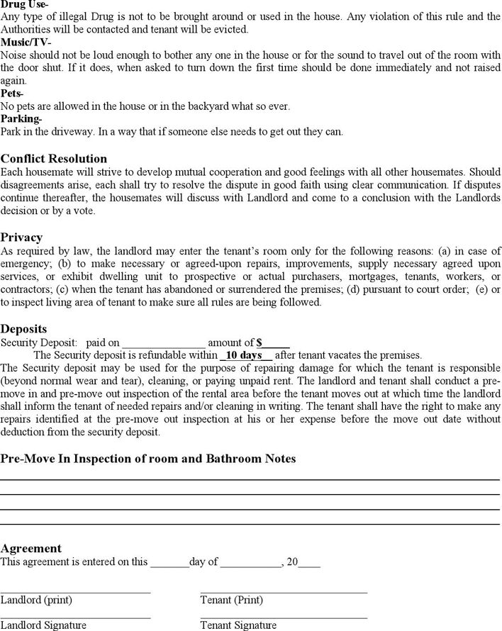 Room Rental Agreement Download Free Printable Rental Legal Form Template Or Waiver In Different Editable Formats Like W In 2020 Room Rental Agreement Agreement Rental