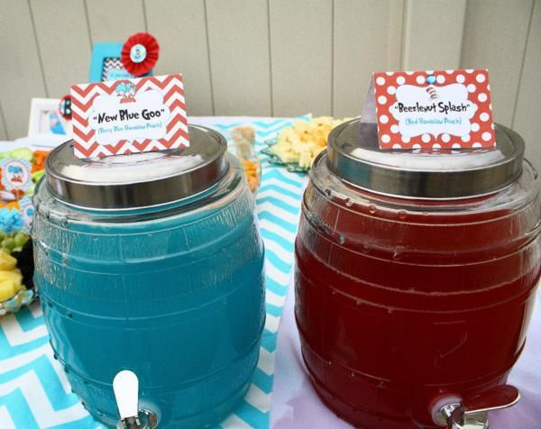 Thing One U0026 Thing Two Dr Seuss Themed Birthday Party For Twins Via Karau0027s  Party Ideas