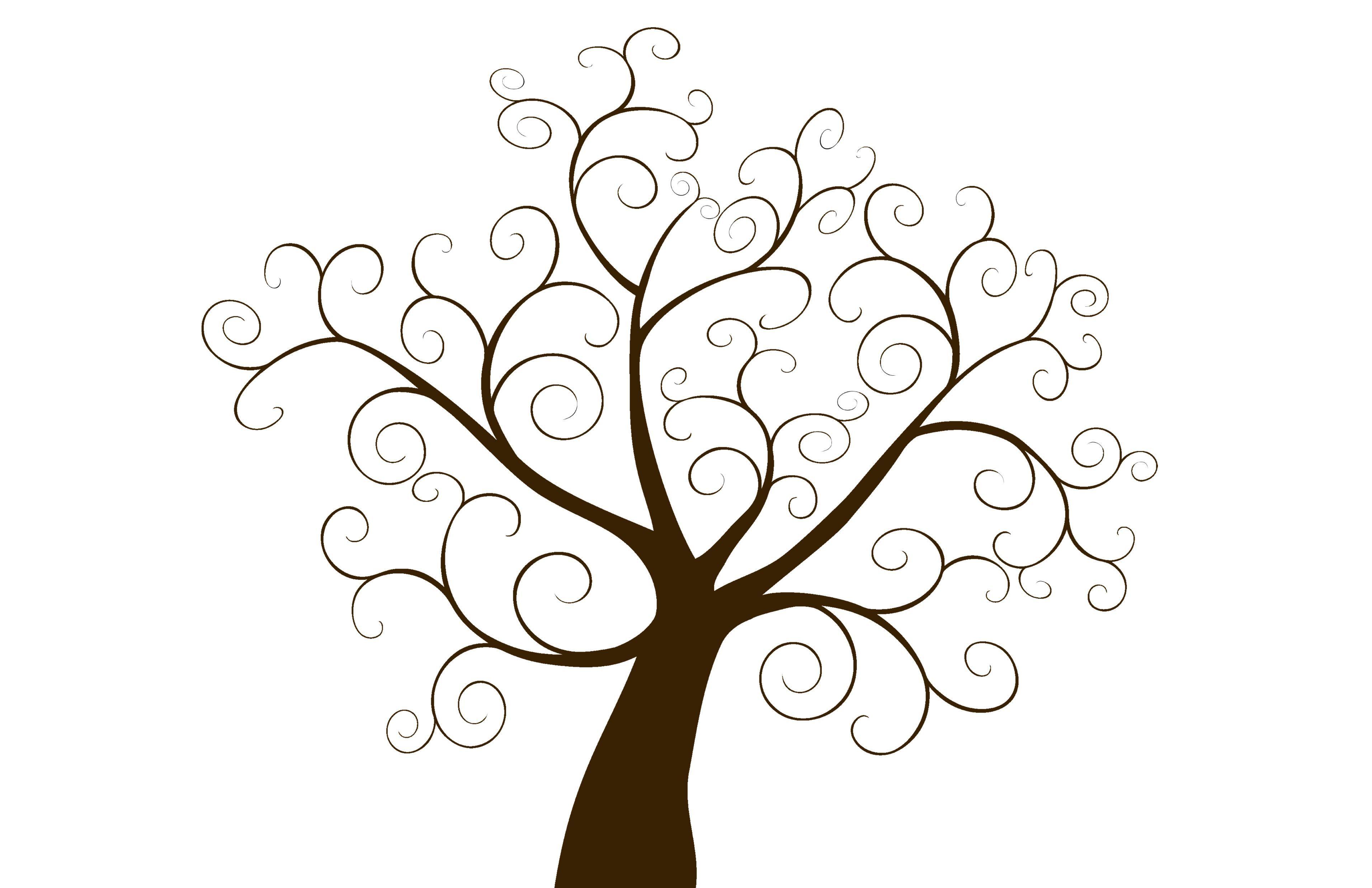 Free Printable Fingerprint Tree Template Free Wedding Printables