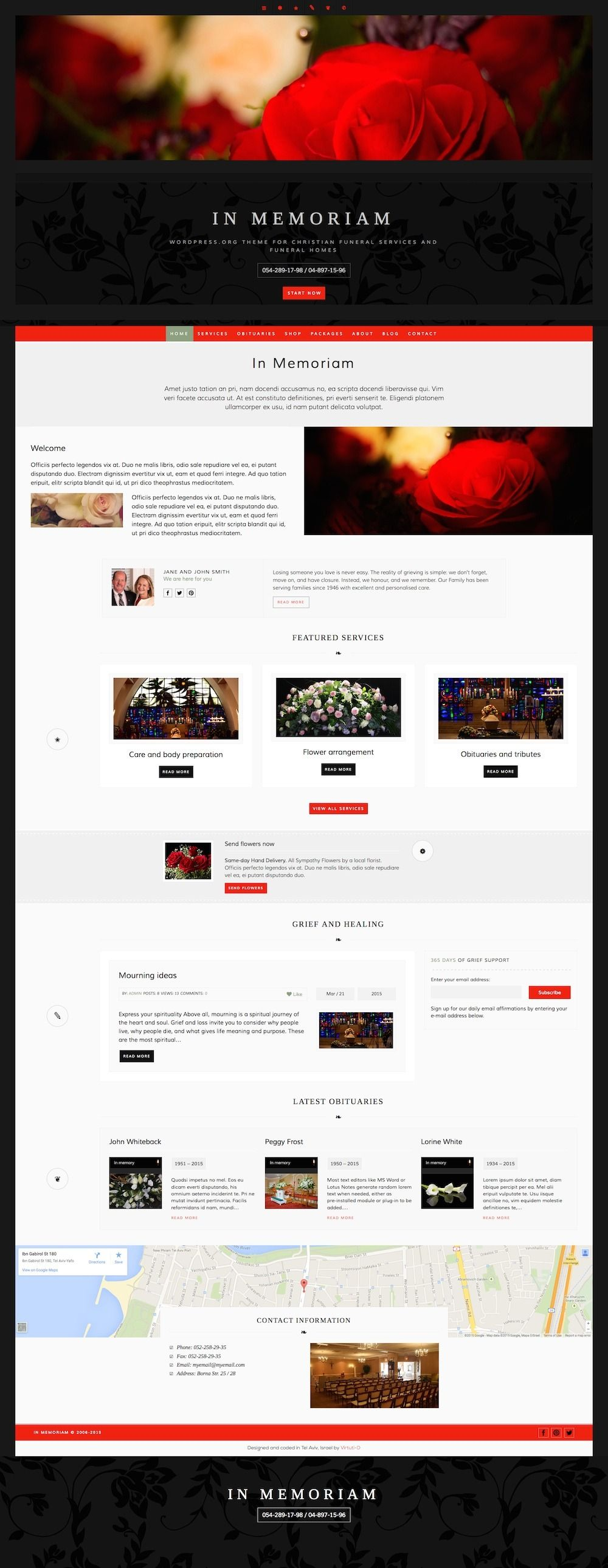 In Memoriam #WordPress theme was created especially for