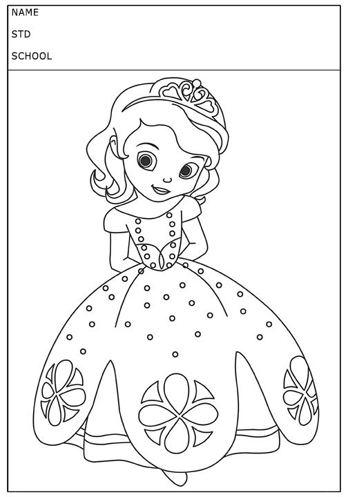 Cute Little Princess Coloring Page