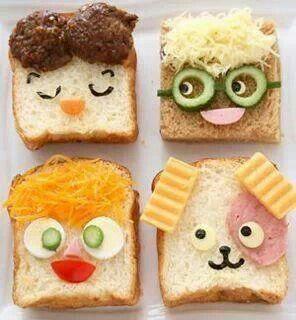 أفكار تزين ساندويتشات للأطفال تصويري وصفاتي طبخ لذيذ Fun Kids Food Creative Food Kids Meals