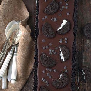 No bake chocolade Oreo taart