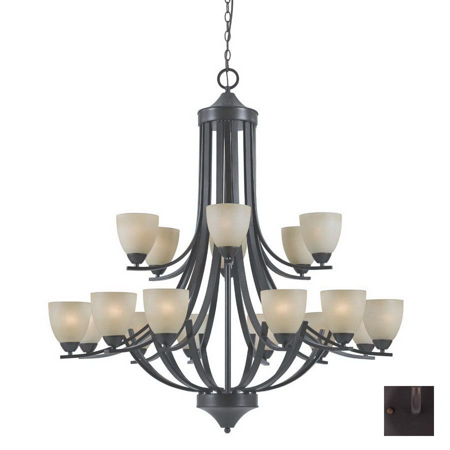 Shop triarch international 18 light 240 series english bronze shop triarch international 18 light 240 series english bronze chandelier at lowes aloadofball Images