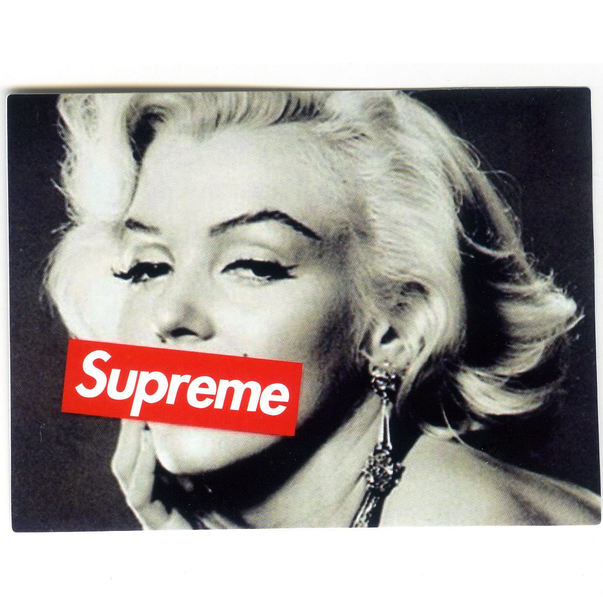 1446 Supreme Marilyn Monroe Photo , 10 cm decal sticker