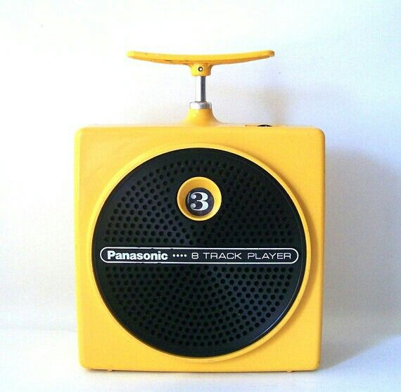 Panasonic 8 Track player.  I got this for my 10th bday with Elton John tape.