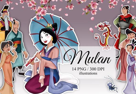 Mulan Mulan Clip Art Disney Clip Art Digital Clip Art