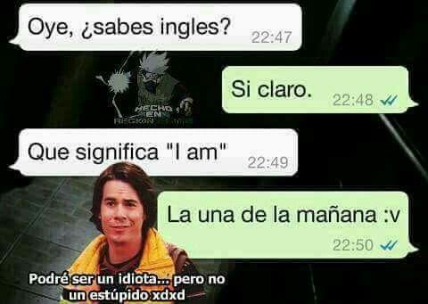 Jajaj Cuando No Sabes Ingles Y Dices Que Si Memes Divertidos Meme Gracioso Chistes Geniales
