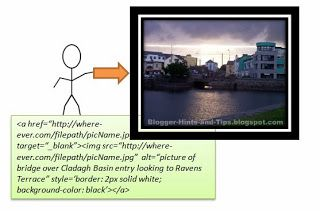 Getting the HTML code to put a picture into your blog | Blogger-Hints-and-Tips