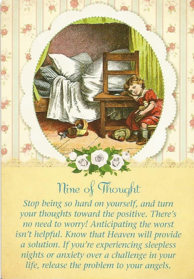 9 of Thought, Guardian Angel Tarot, Doreen Virtue