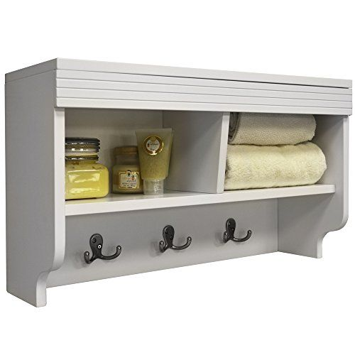 CHUBBY - Wall Mounted Storage Cubby with Coat Hooks - Whi…