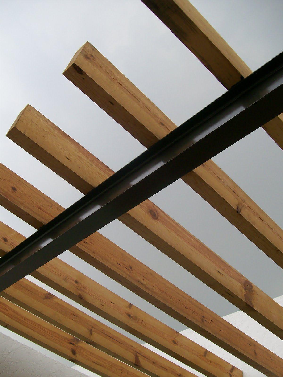 Pin de isela avalos en vigas pinterest pergola - Vigas madera techo ...