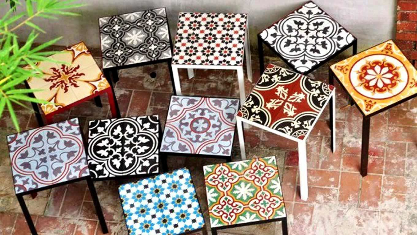 Use Tile Stickers To Create A Rad Little Side Table What A
