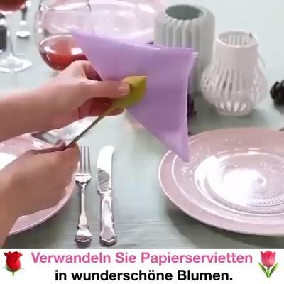 DIY Blume aus den Papierservietten