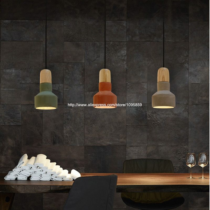 free shipping vintage grey red green cement pendant lights lamps