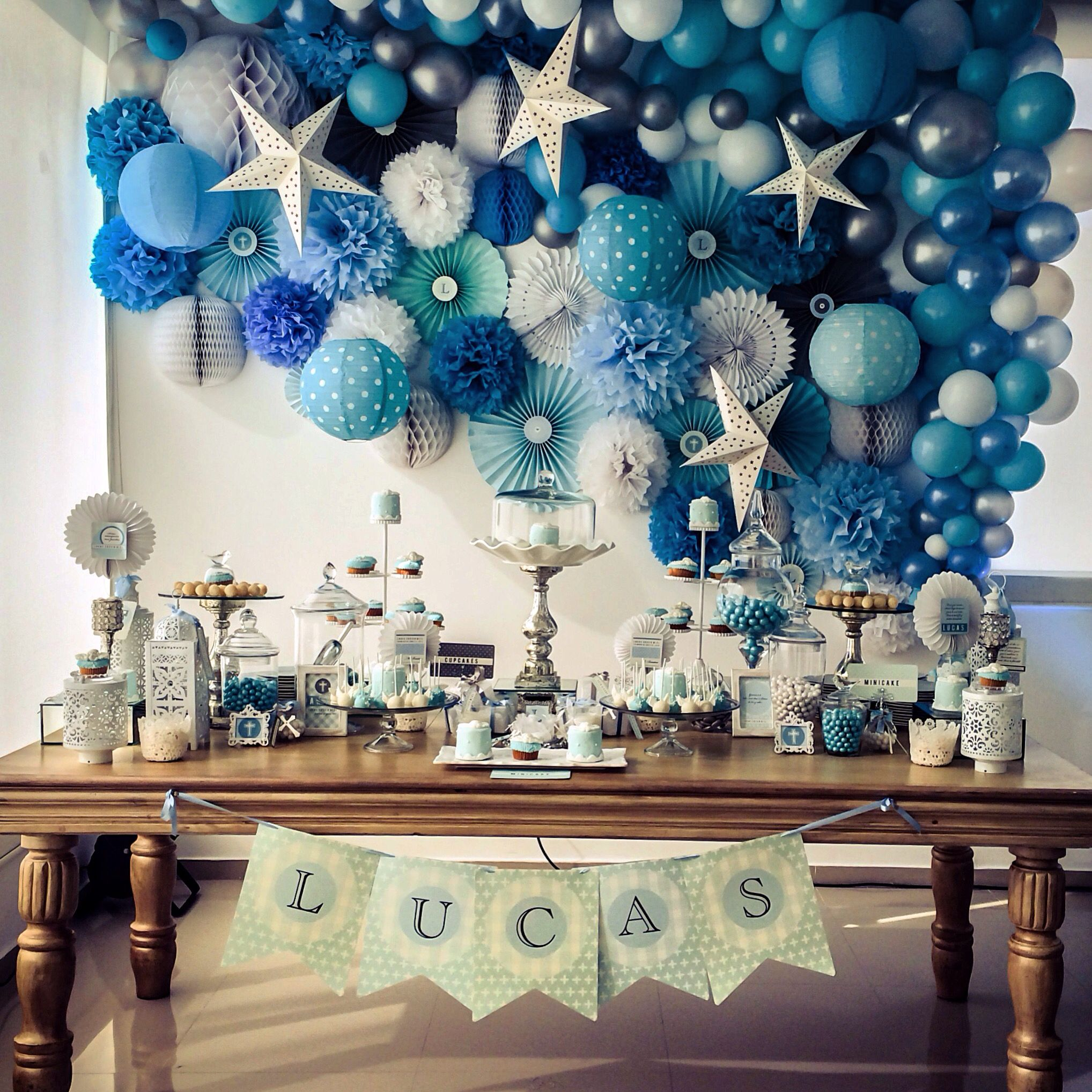 Baptism Baby Boy Christening Decorations Baby Shower