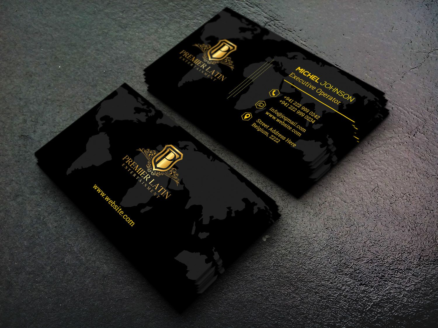 Corporate Business Card Elegant Business Cards Design Business Card Design Black Business Card Design Simple