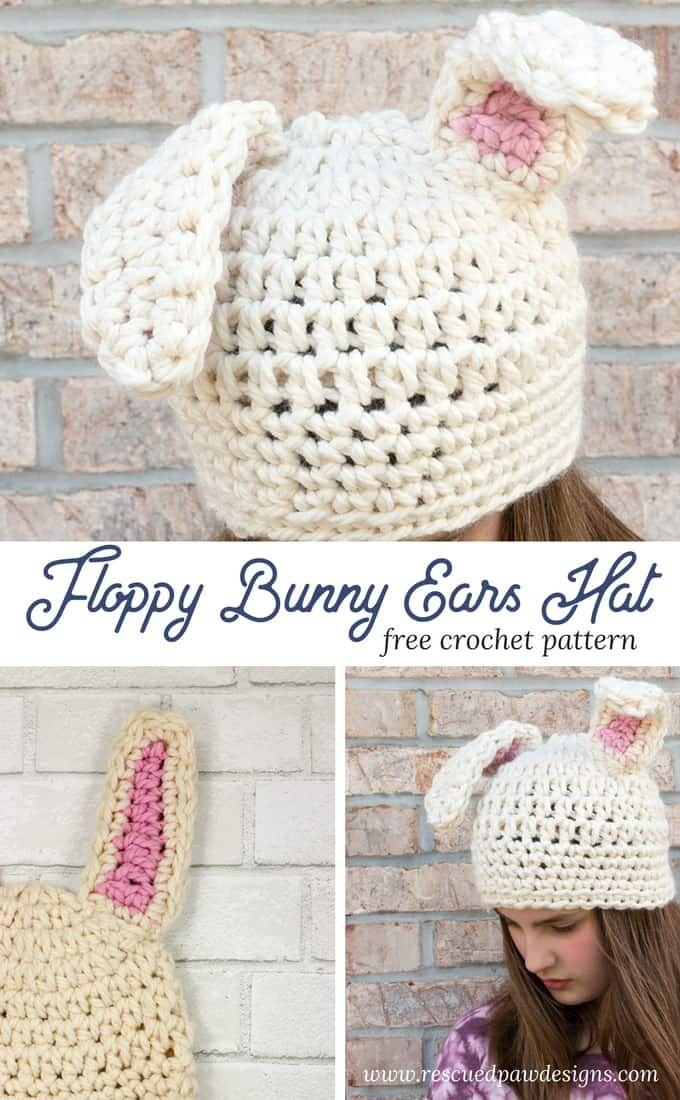 Crochet Floppy Bunny Ears - Crochet Bunny Ears Free Pattern ...