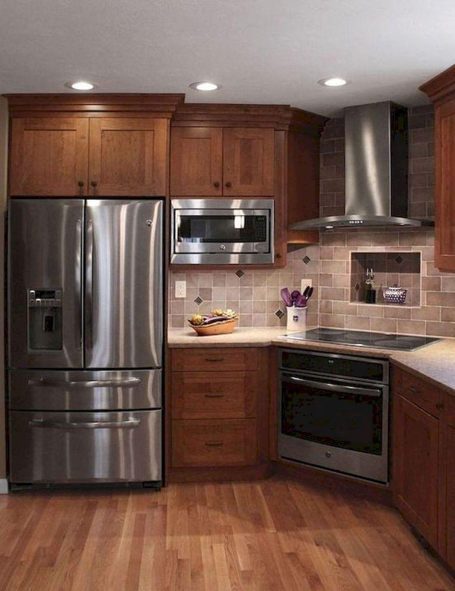 150 gorgeous farmhouse kitchen cabinets makeover ideas ...