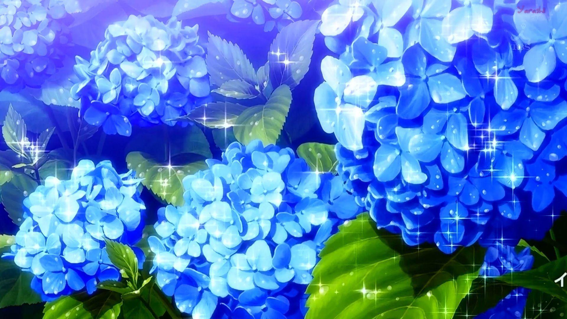 On Twitter Anime Flower Blue Flower Wallpaper Anime Scenery Coolest anime flower wallpaper