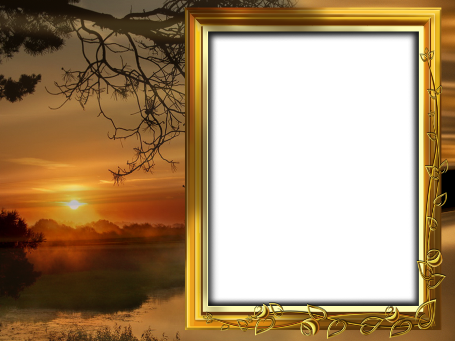 Beautiful Sunset Transparent PNG Frame | Frames ...