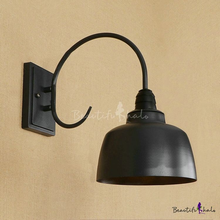 Industrial Wall Sconce With 8 27 W Metal Shade In Barn Style Industrial Wall Sconce Wall Sconces Metal Shades