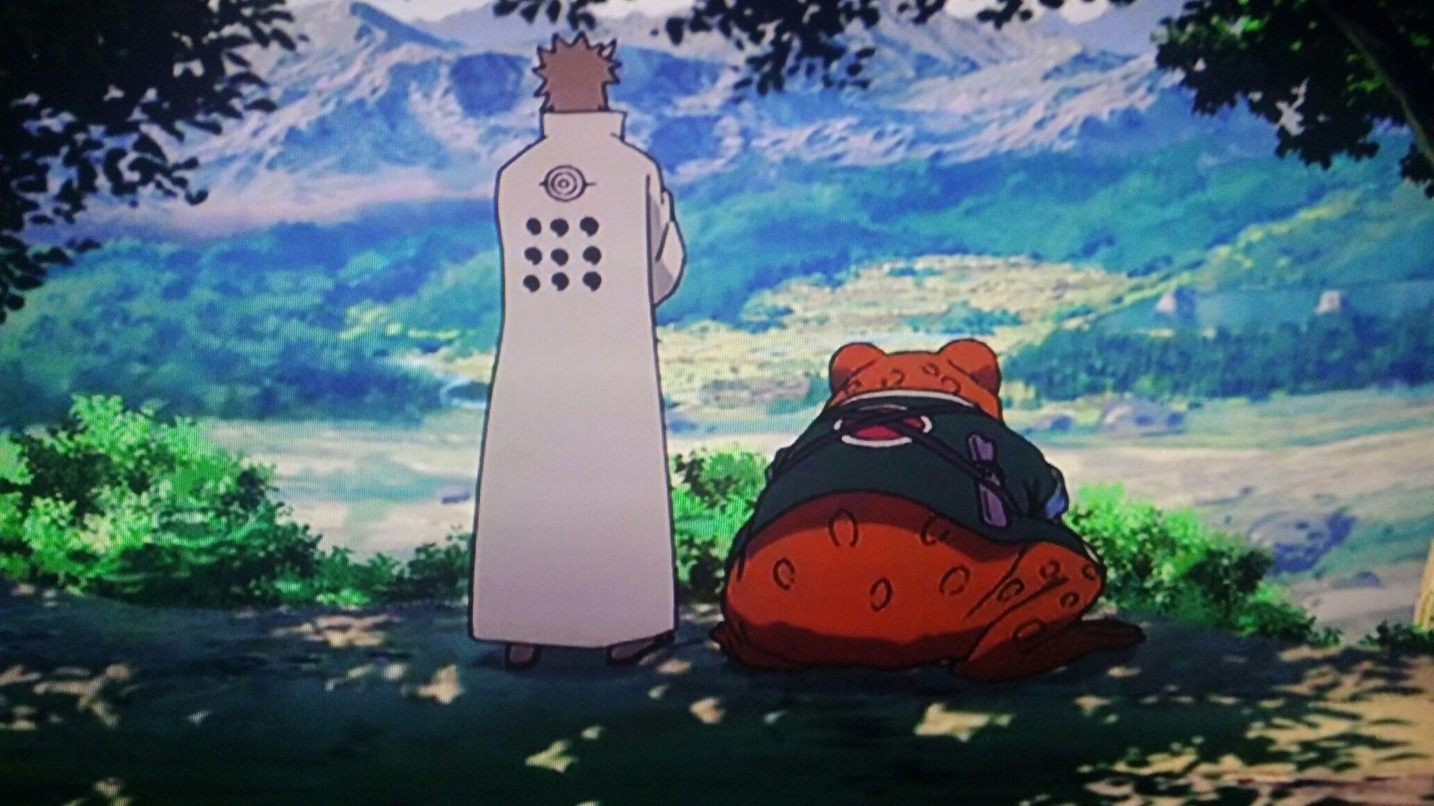 The Great Toad Sage Gamamaru and Hagoromo | Hagoromo ...