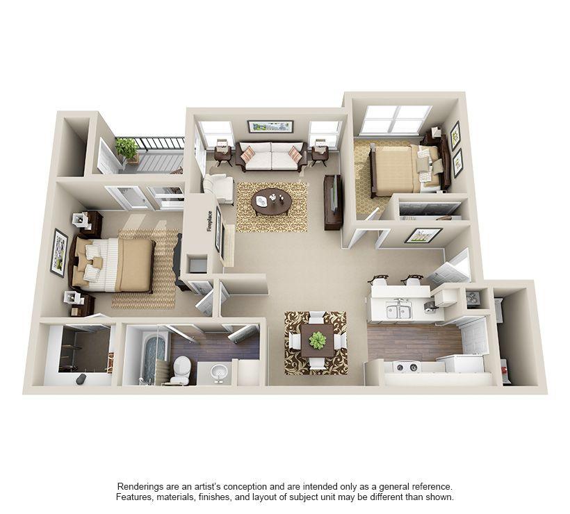 One Two And Three Bedroom Apartments In San Antonio Tx Casas Apartamento