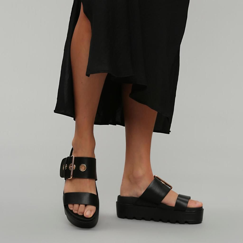 GUMMI Chunky Flatform Sandals