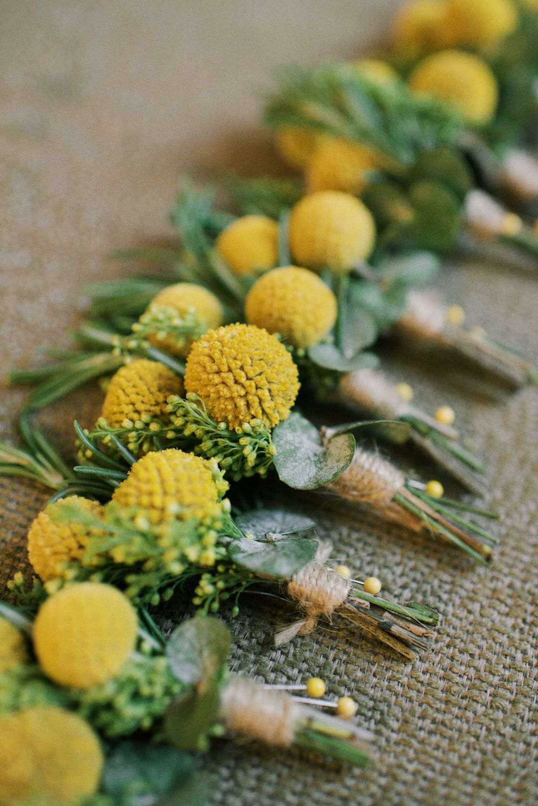 Rustic Chic Farm Wedding With Yellow Details Flowers Pinterest