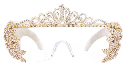 03ed6e89a2e Handmade Leather and Swarovski crystals eyewear. NATASHA MORGAN tiara  eyewear- Shop