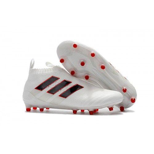 reputable site 8f226 00cbd Adidas ACE 17 Purecontrol Fond ferme Blanc Noir Rouge pas cher