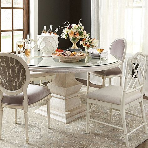 Andrews Pedestal Dining Table Glass Topper Pedestal Dining Table Dining Table Dining Room Design