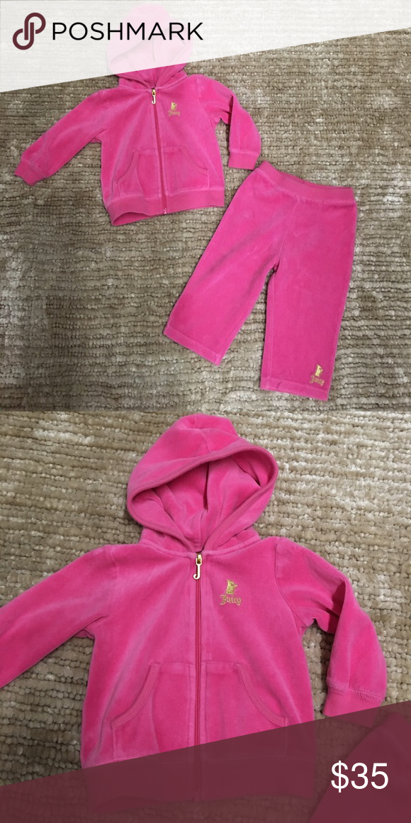 8a68bb60f001 Juicy Couture pink velour tracksuit Sooo cute. Gently worn, excellent  condition. Juicy Couture Matching Sets