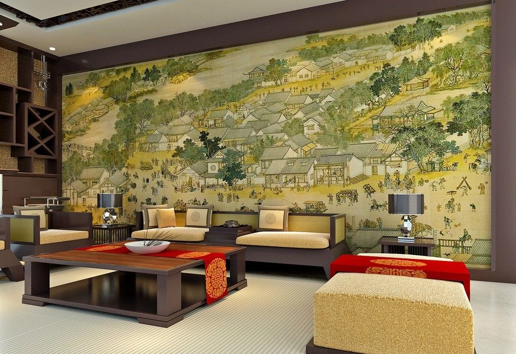 beautiful living room wall design - Chinese Living Room Design
