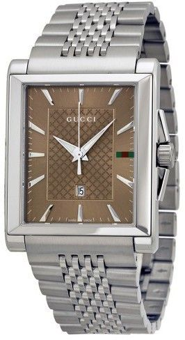41d9f0b4337 Gucci G-Timeless Brown Dial Stainless Steel Ladies Watch YA138402 ...