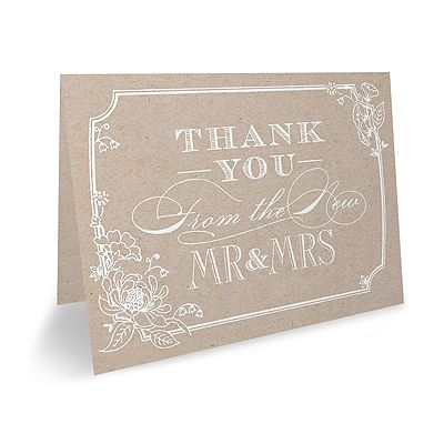 Country Blossom Thank You Note Blank