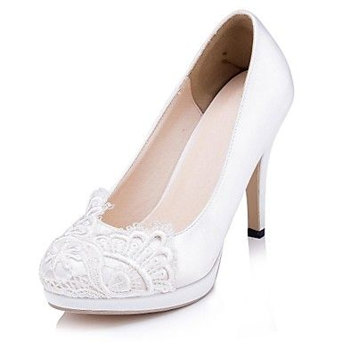 Womens Shoes Round Toe Stiletto Heel Satin Heels with Stitching Lace Wedding  Shoes More Colors available