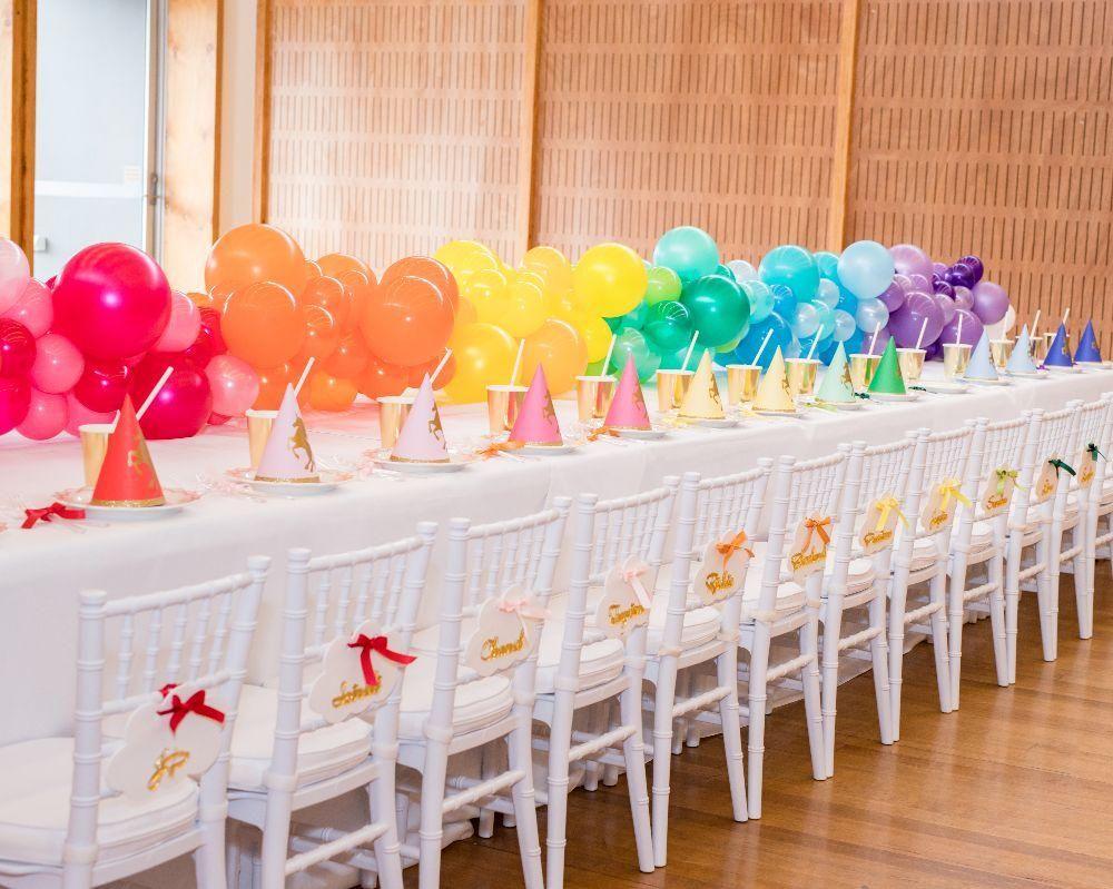 LAVISH RAINBOW UNICORN PARTY – KIDS PARTY IDEAS  Rainbow unicorn