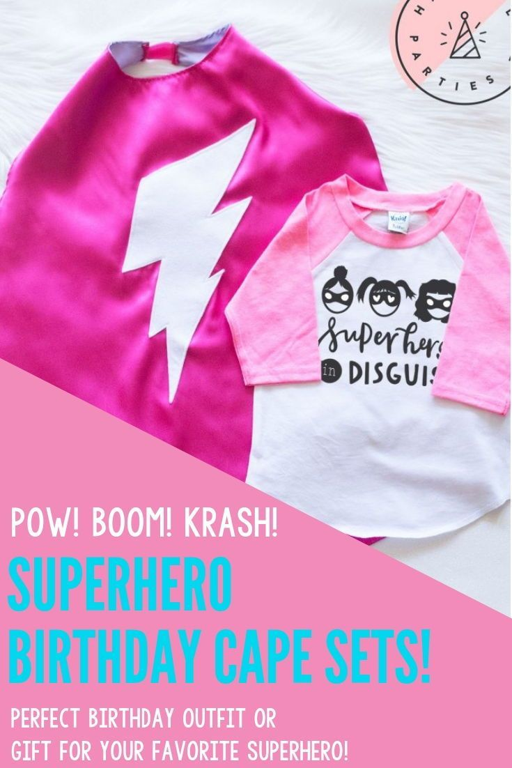 Pink Superhero In Disguise Set