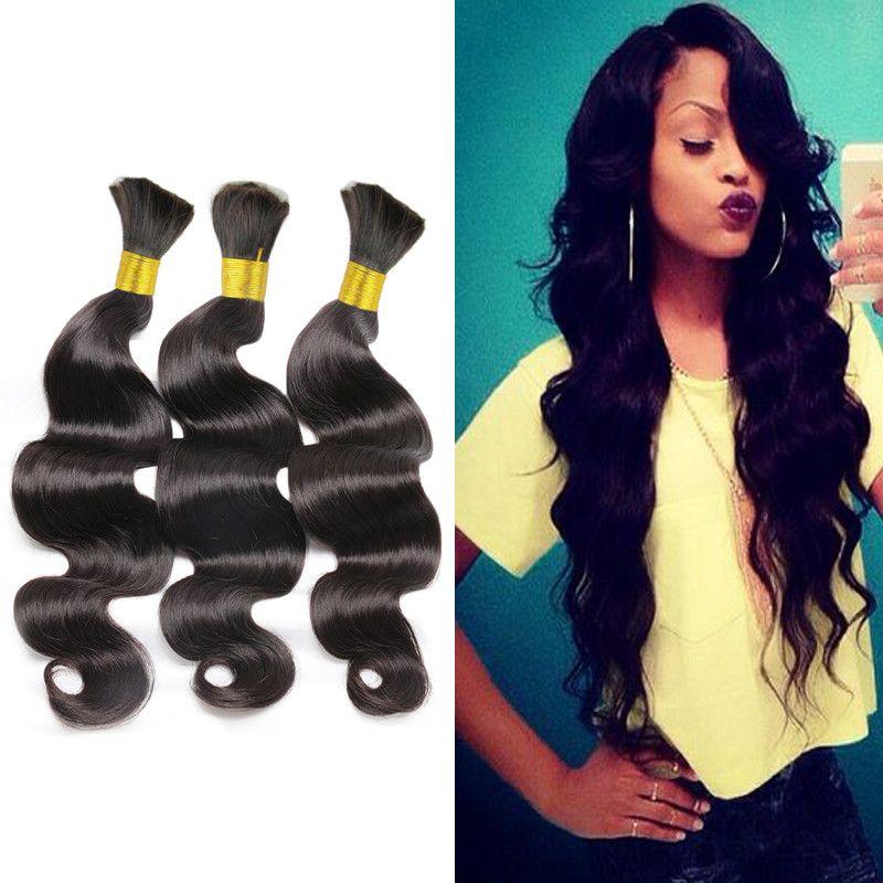 Brazilian Bulk Hair For Braiding 3bundles 100 Human Hair Weft