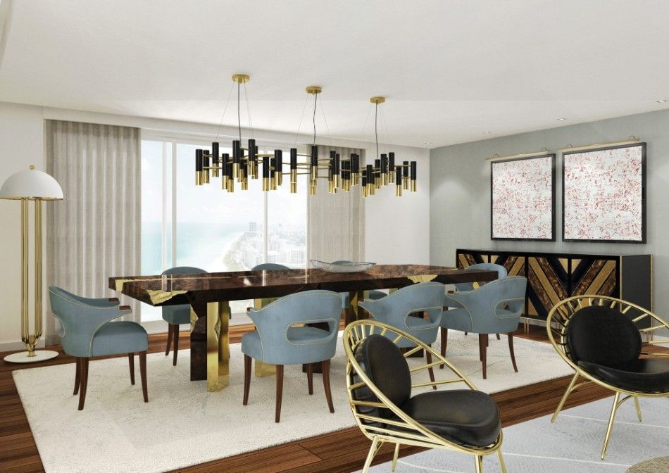 Top 2018 Modern Dining Tables Trends On Pinterest Dining Room Design Modern Dining Room Luxury Dining Tables