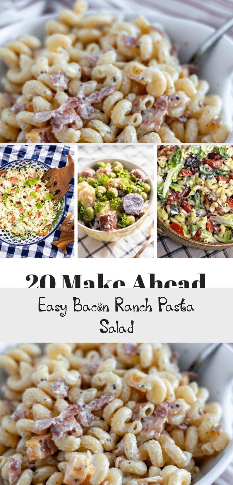 SO GOOD! Easy bacon ranch pasta salad recipe - add chicken ...