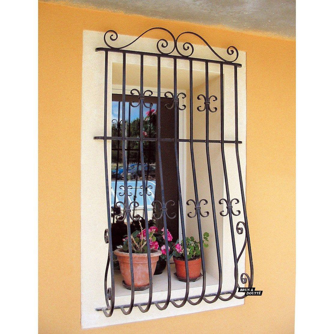 grille de défense pour fenêtre alsace l80 x h95 cm
