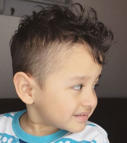 messy top with side fade  kids girl haircuts toddler boy