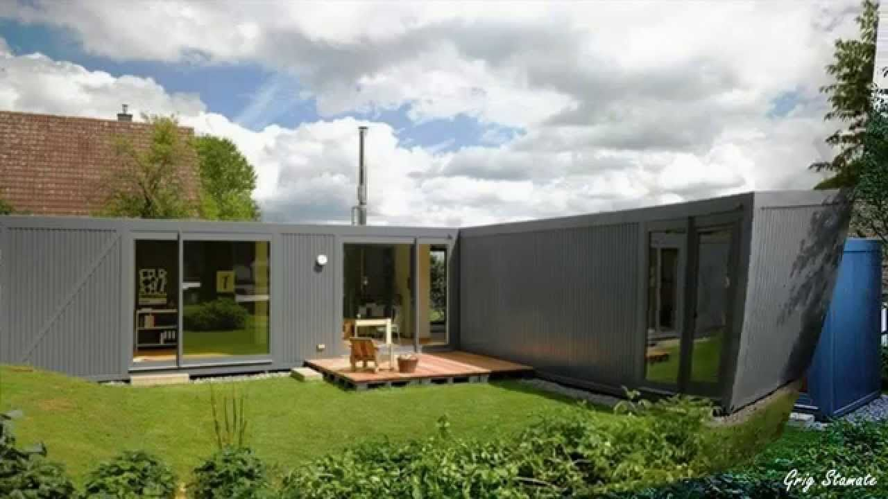 Modern shipping container house in germany need floor for Modern box house design