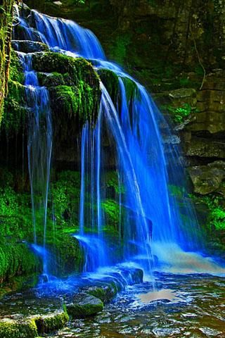 3d Waterfall Amazing Waterfall Beautiful Landscapes Beautiful Nature Wallpaper