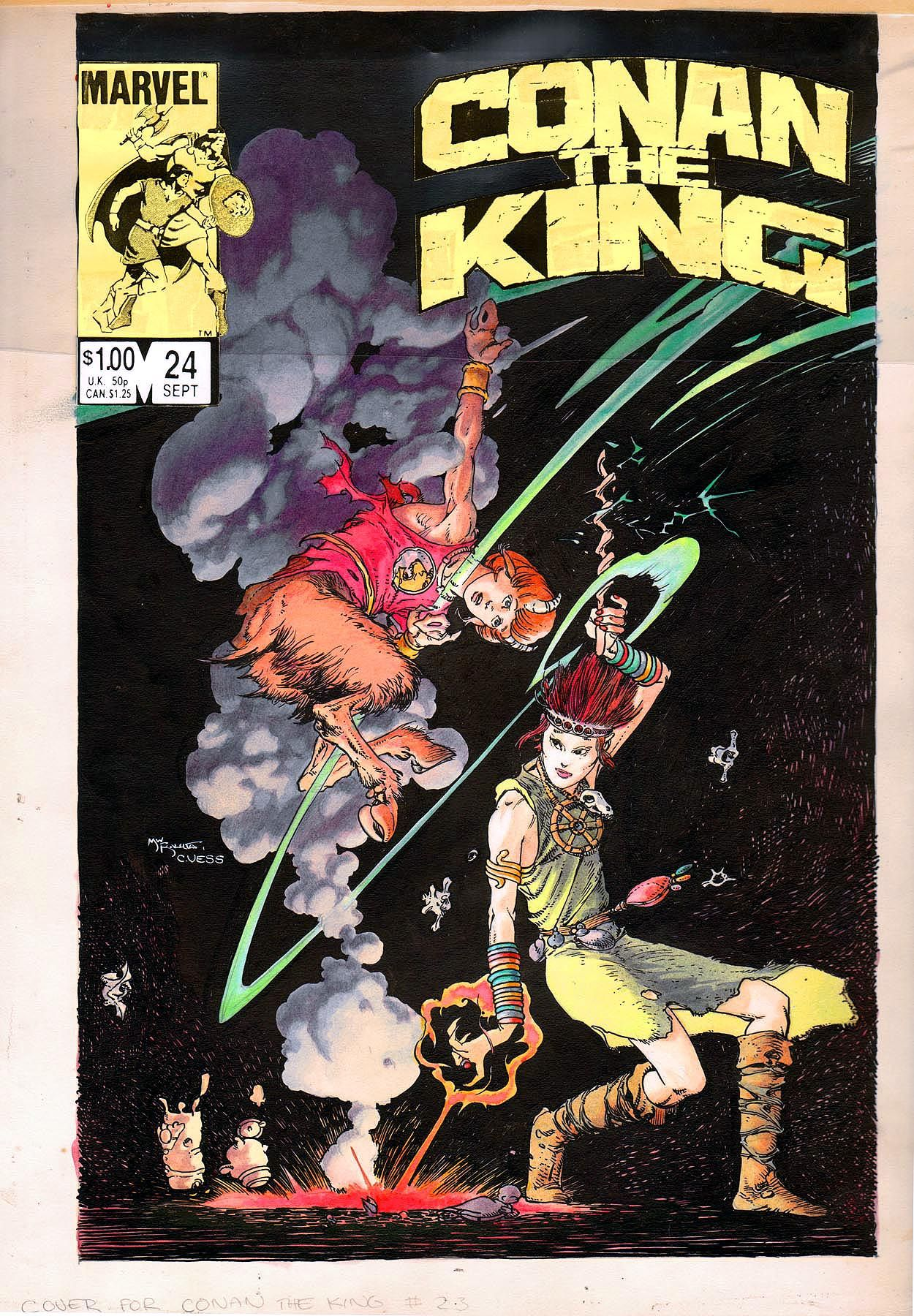 Original painted cover by Michael Kaluta and Charles Vess from