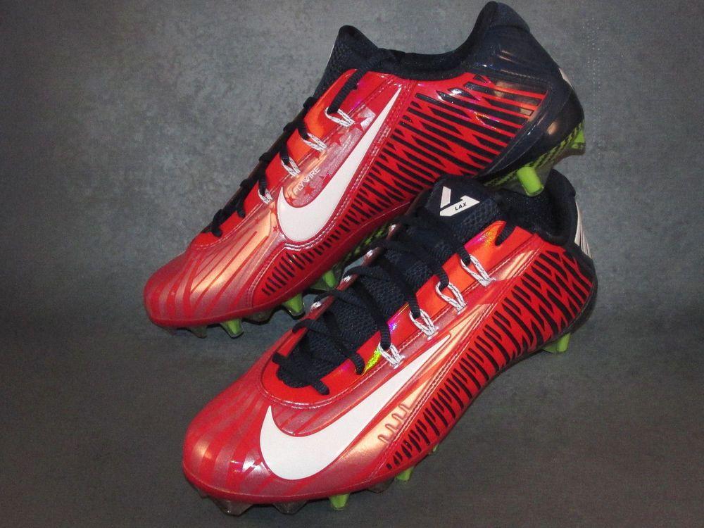 11ee6496b Nike Vapor Carbon Elite 2014 TD Promo Football LAX Cleats Size 12 Red Blue  RARE  Nike