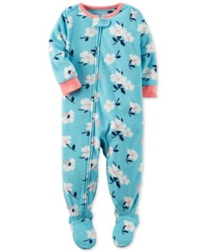 CARTER/'S 1PC DINOSAURS GIRL FOOTED BLANKET SLEEPER COZY FLEECE PAJAMAS 12M